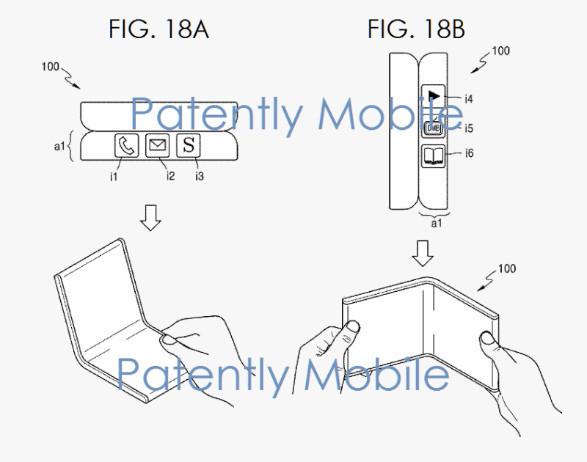 三星折叠屏专利(图片来自网络)
