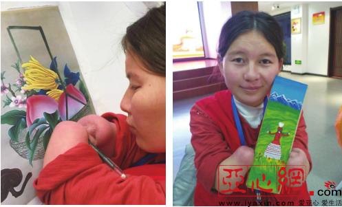 新疆无手女孩学画画立志当老师