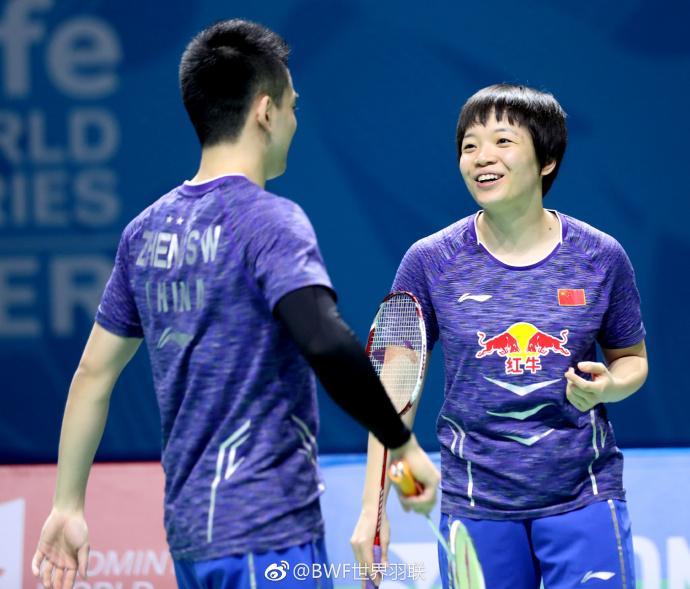 直落两局!中国组合蝉联国际羽联总决赛混双冠军