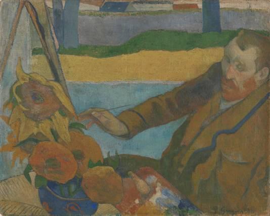 高更画的《梵高画向日葵》.图片来源: Van Gogh Museum-让梵高