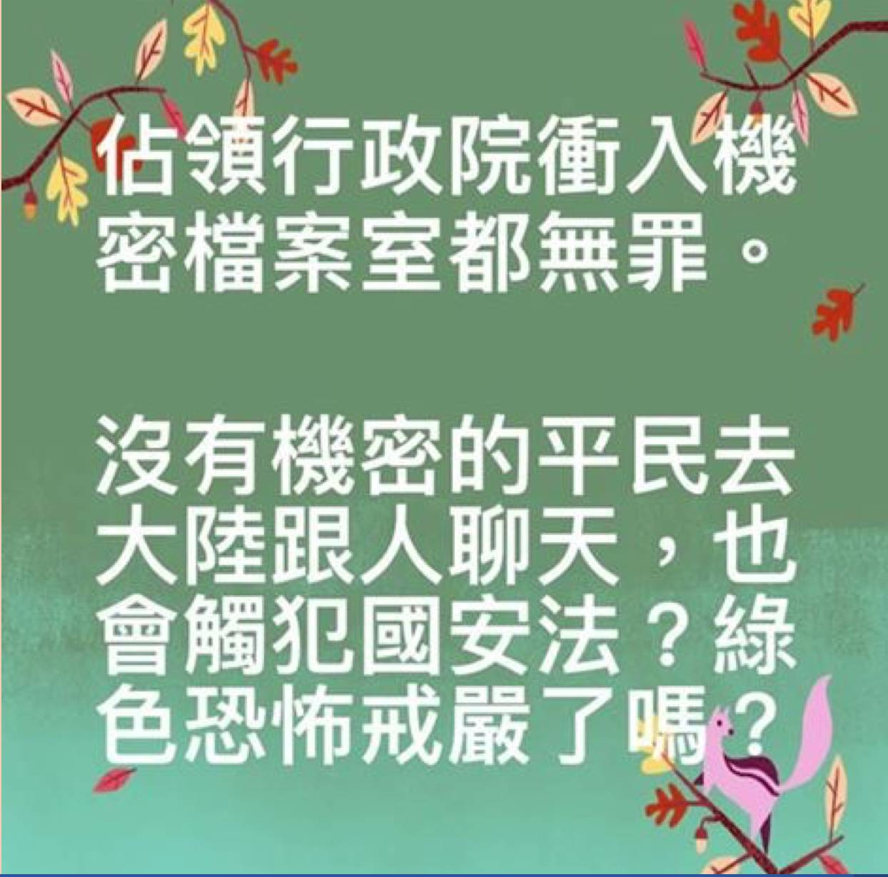 """台生:我举报蔡英文、陈水扁、吕秀莲""""通共""""(图)"""