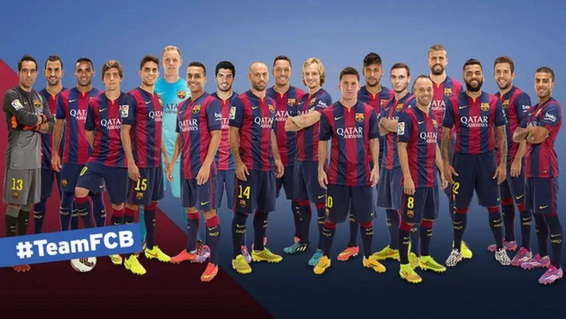 巴塞罗那多年全家福-加泰罗尼亚最棒的球队
