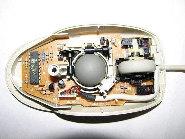 机械鼠标的内部构造(图片源自什么值得买)