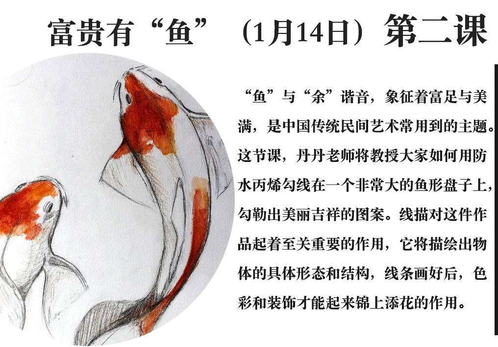 丙烯画鱼步骤图解