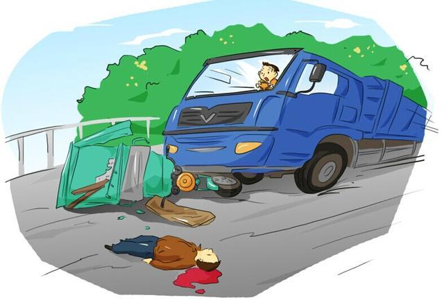 学生扶老太太过马路,却被抢红灯的大货车撞死!