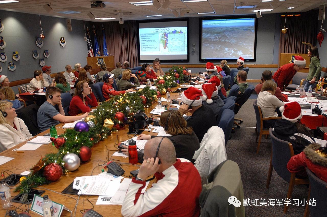 """最佳军民公关:北美防空司令部""""追踪圣诞老人""""行动"""
