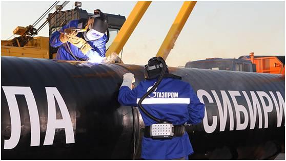 天然气东线施工现场来源:俄气