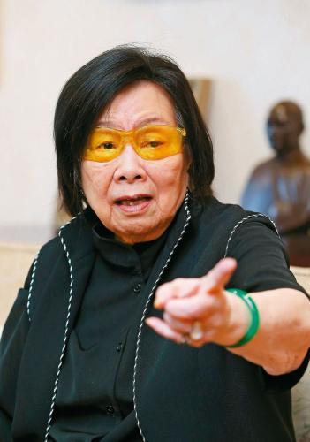 辜严倬云(台湾海基会前董事长辜振甫遗孀)。联合报系资料照片