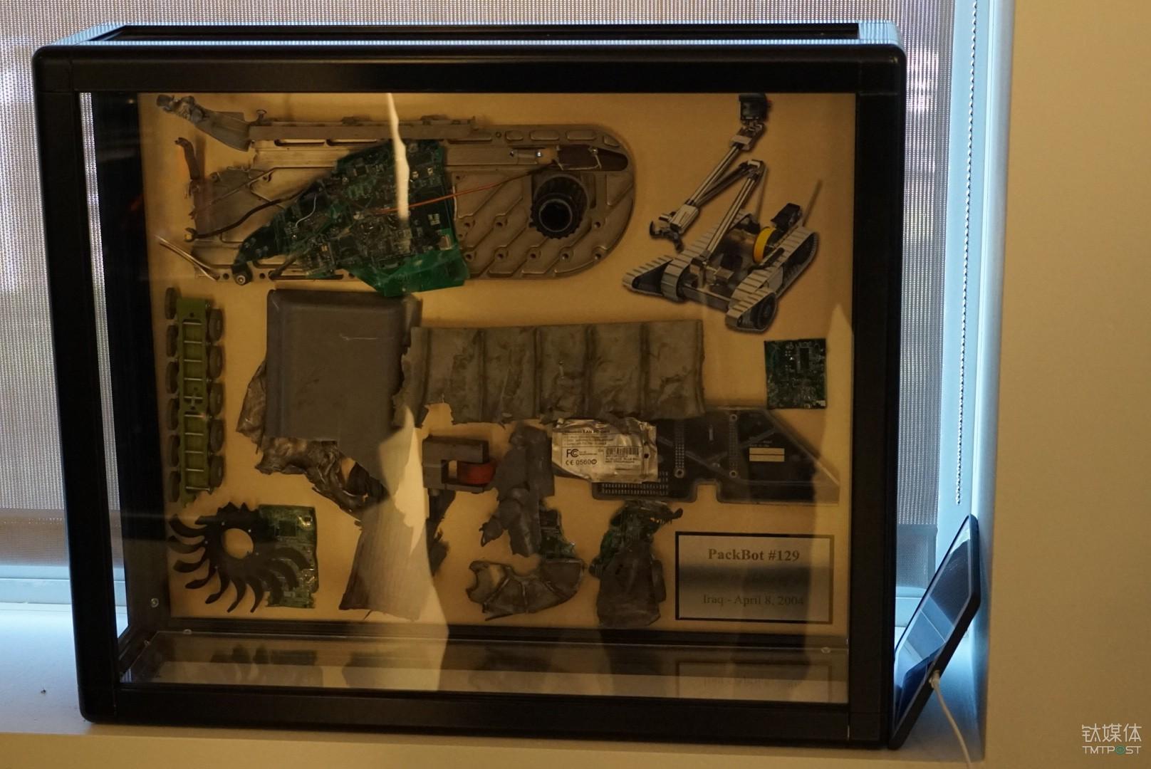 被炸毁的PackBot碎片