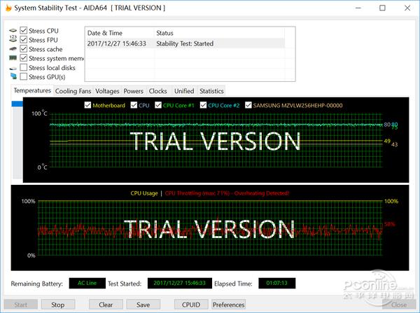 AIDA64的系统稳定性测试