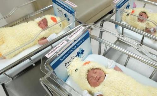 资料图片:新生儿。
