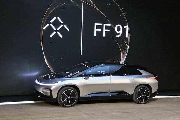 贾跃亭FF91电动汽车价格80万元 售价这样仍然赔钱高清图片
