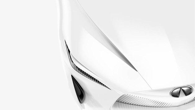 英菲尼迪新概念车预告图 外观线条流畅