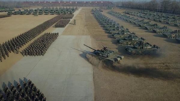 坦克--中部战区陆军某师:昨日主席校阅 今日征战沙场