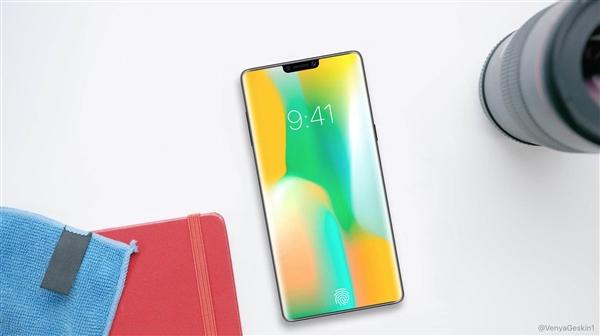 三星 Note10渲染图曝光:刘海屏设计 超高屏占比