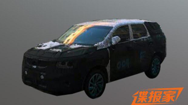 吉利首款中型SUV谍照曝光 7座+硬派风格