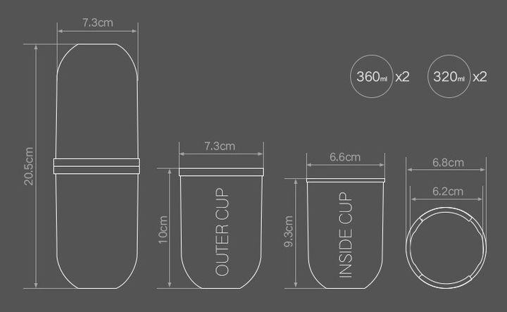 这个杯子的设计也太创意了吧,竟然可以由一个变出四个