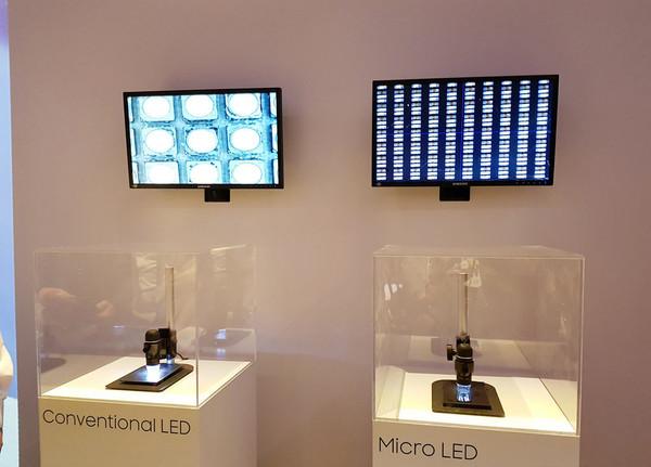 传统LED屏与Micro LED屏对比(图片来自网络)