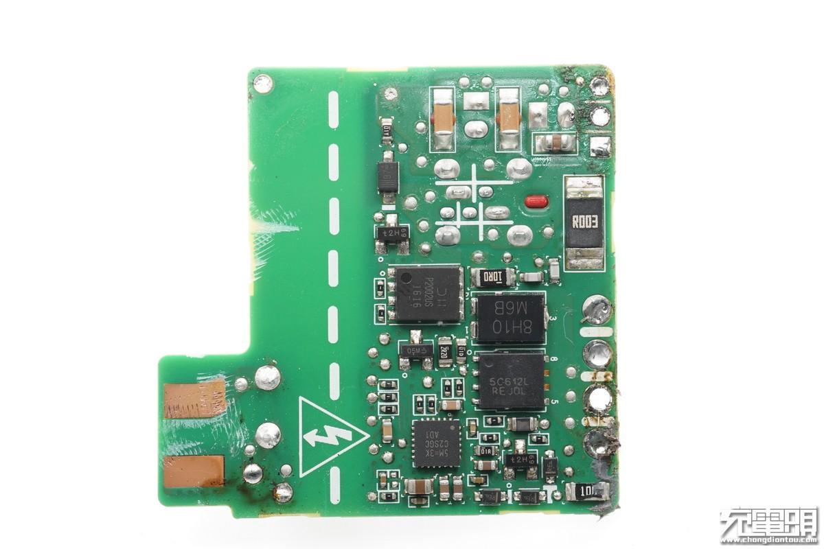 左侧电路板,rt7207,识别芯片,支持同步整流.