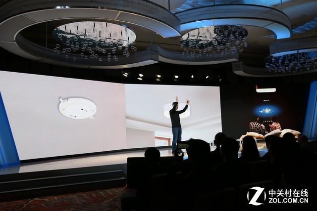 2018 CES百度携极米发布智能投影吸顶灯