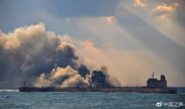 """长江口撞船事故:未发生大面积溢油,""""长峰水"""