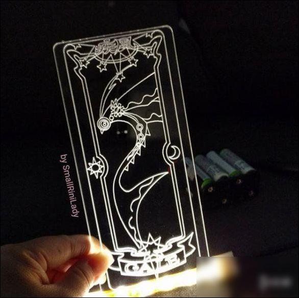 大神自制《魔卡少女樱》透明卡牌 美穿次元壁