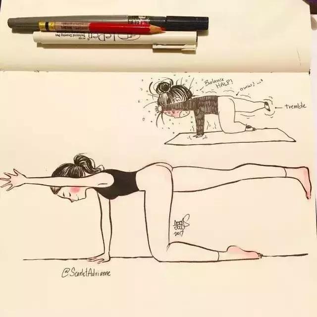 姑娘们幻想中的健身VS现实中的健身,笑抽了!