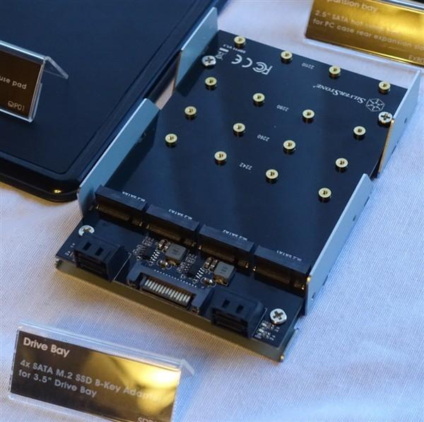 3.5寸SSD拓展坞可装4个M.2 Silverstone亮相