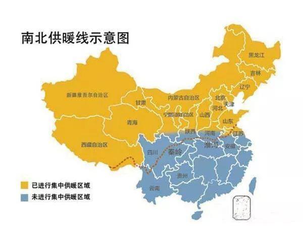 冬季,我国北方省份都会集中供暖,为什么南方地区没有?图片