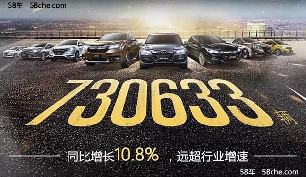 广汽本田2017年销量破73万 同比增10.8%