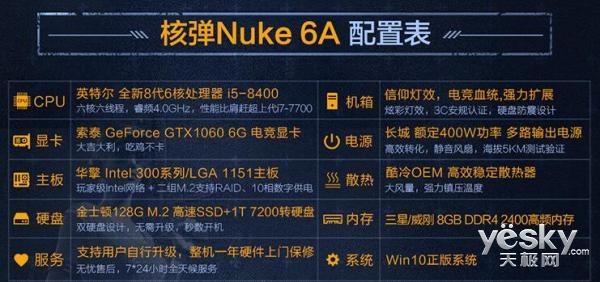 新年吃鸡不吃土 买极限矩阵核弹Nuke 6A立减100还有3期免息