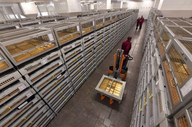 俄罗斯金库曝光:1800多吨黄金存放在这里!