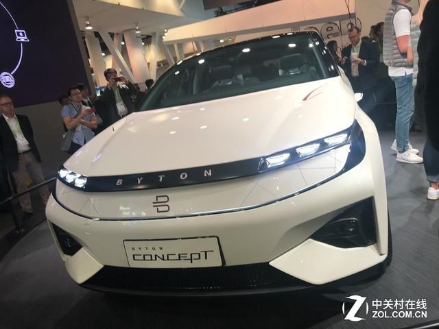 CES 2018:拜腾电动智能SUV 全面屏中控