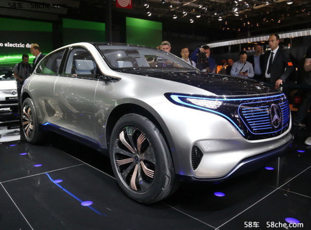 奔驰全新EQC电动SUV谍照 或明年亮相