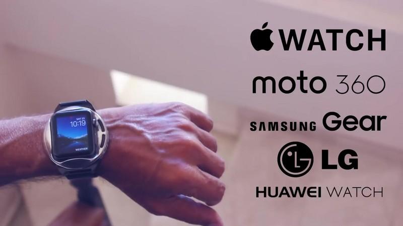 """这里有款带""""翅膀""""的智能手表,用手按压一下就变智能手机"""