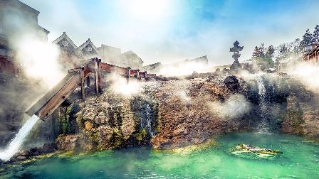 世界上酸性最强的温泉:日本草津温泉,能溶解铁钉,游客抢着泡