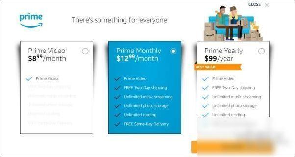 亚马逊Prime会员包月服务涨价 至12.99美元