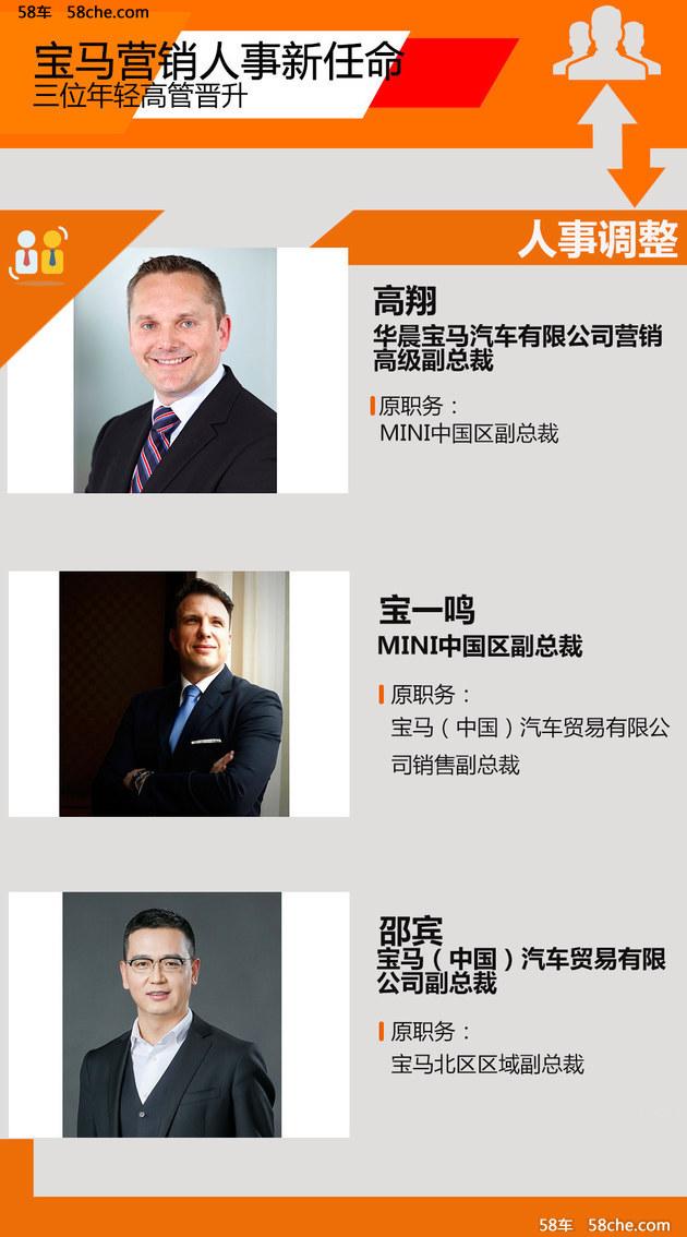 宝马营销人事新任命 三位年轻高管晋升