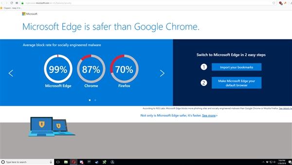 微软耍流氓:Opera浏览器里强推Edge 却无视Opera