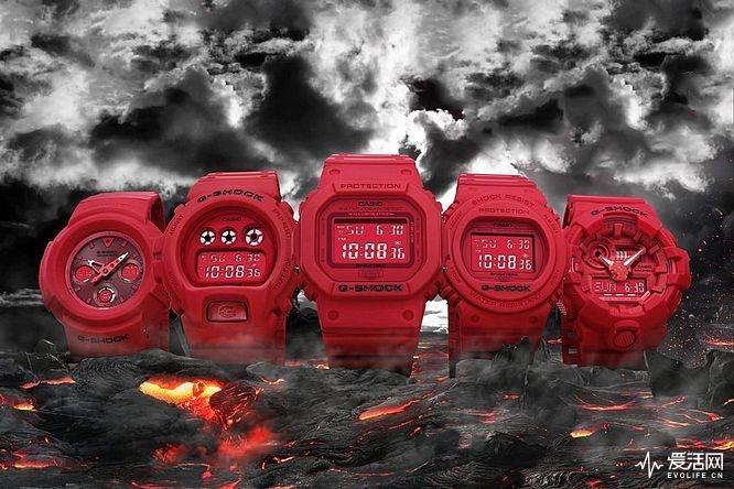 你的本命年只穿红裤衩?我可是打算戴块卡西欧Red-Out手表