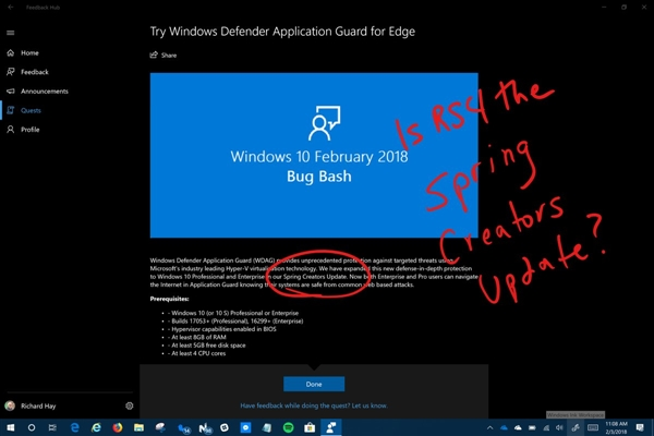 Windows 10春季创意者更新曝光:最快3月推送