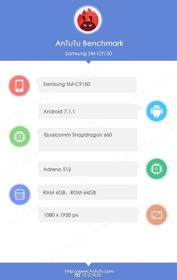 16:9屏幕+骁龙660!三星Galaxy C10 Plus曝光