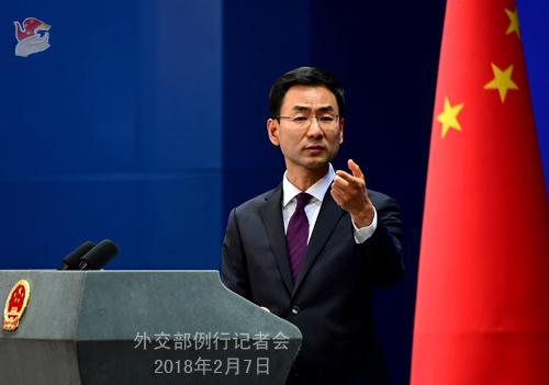 中国外交部发言人耿爽。图片来自外交部网站