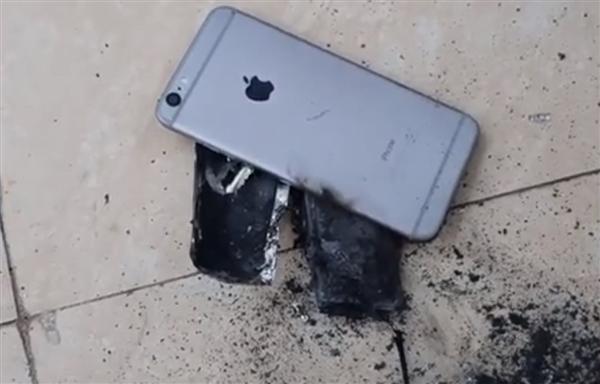 越南发廊一台iPhone 6S起火爆炸:画面恐怖