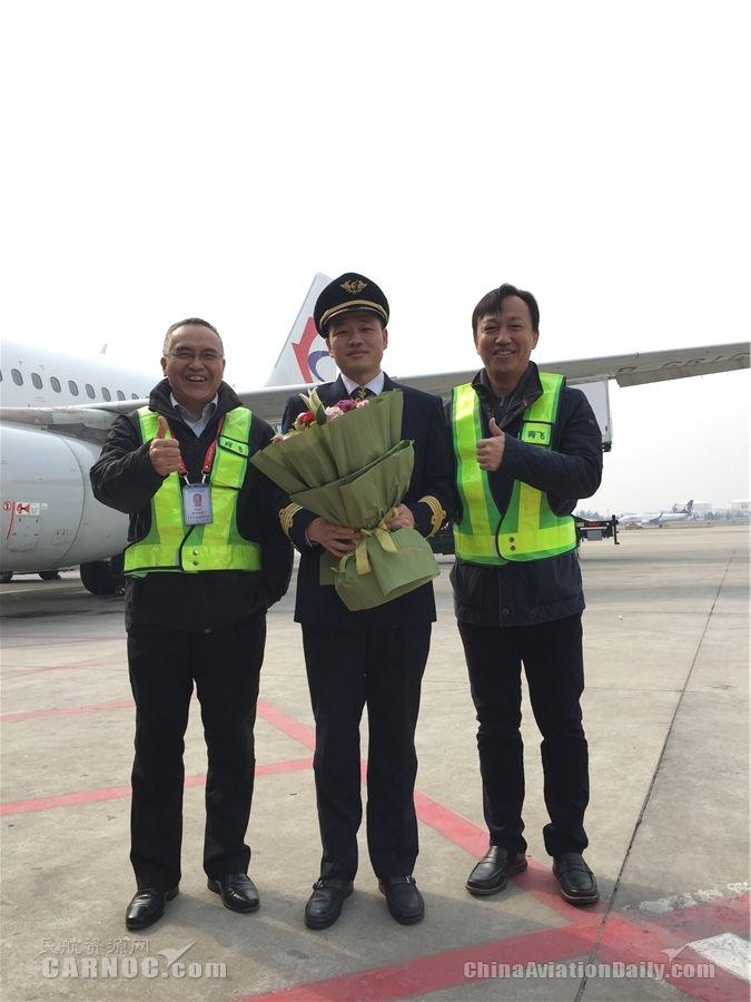 东航青岛飞行部刘亮亮顺利完成机长单飞