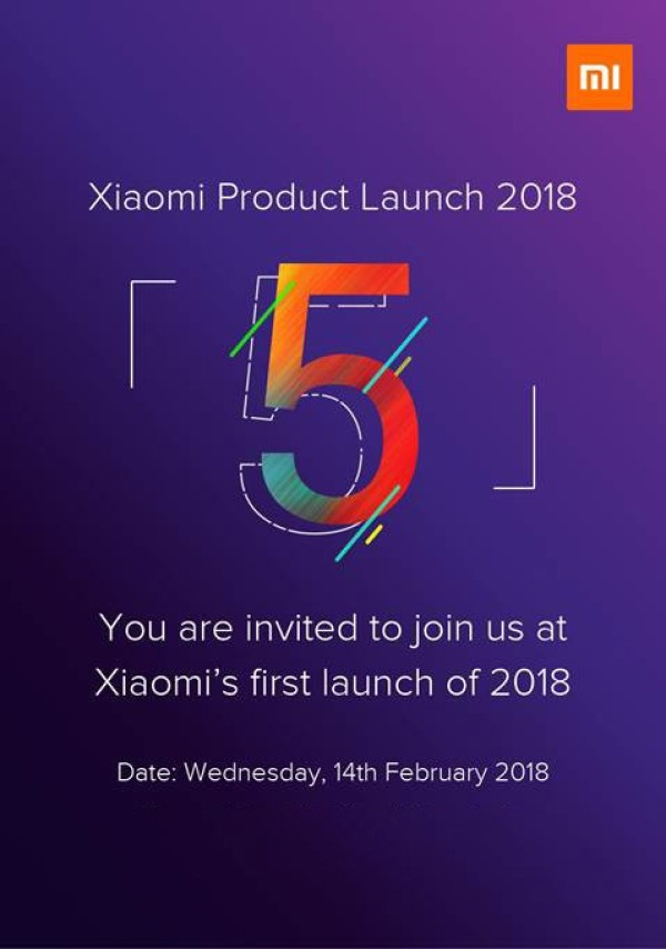 小米2018年第一场新品发布会锁定2月14日 红米5系列登陆印度
