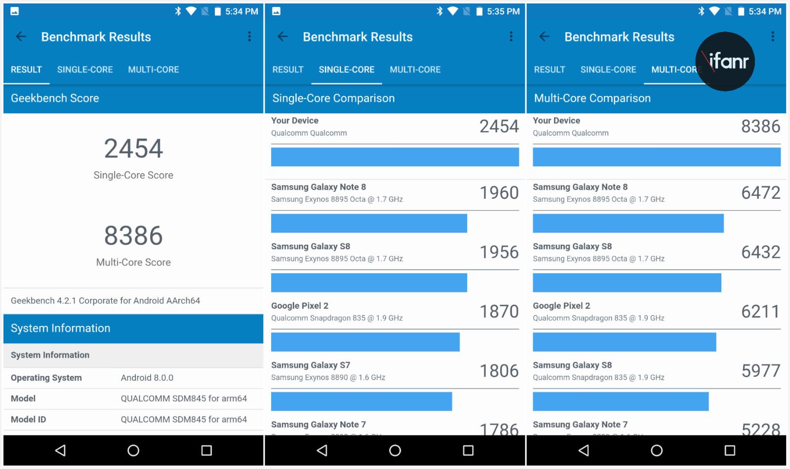 我们给搭载骁龙 845 的手机跑了分,还提前看了一些有趣的新功能
