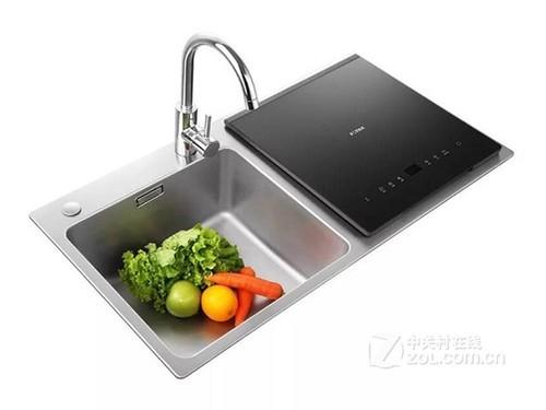方太JBSD2T-X1 超声波去农残,省电省水,不锈钢水槽,70度蒸汽除菌
