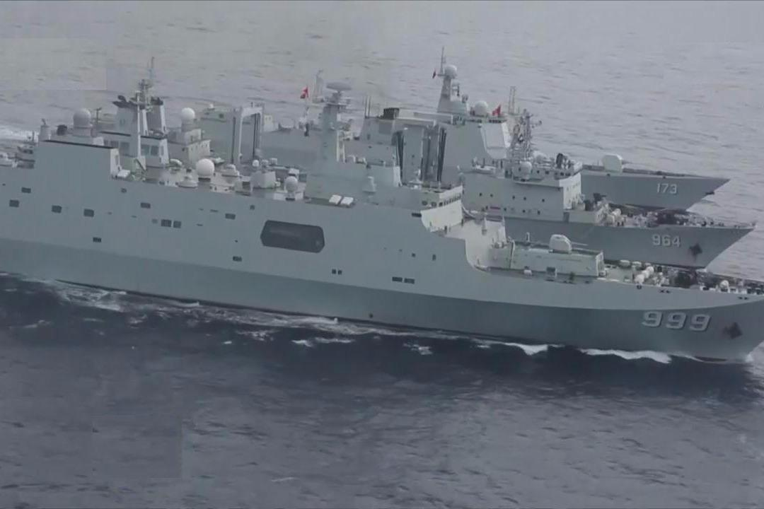 南海舰队罕见在春节期间驶入东印度洋
