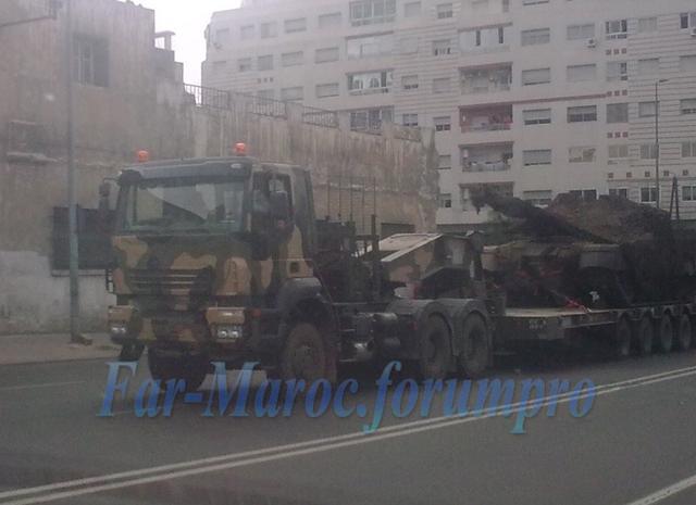 VT1A主战坦克现身摩洛哥街头,《红海行动》在此拍摄